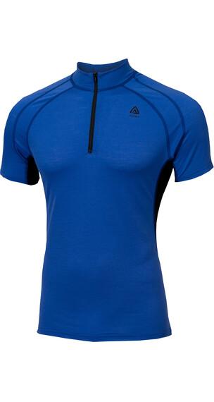 Aclima M's LightWool Shirt Dazzling Blue/Jet Black